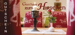 Gutschein Gasthaus zum Hirschen